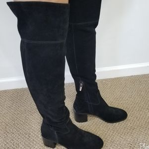 Michael Kors  Suede Leather Above Knee Boo…